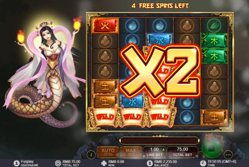Nuwa and the Five Elements :: All wins are doubled during free games
