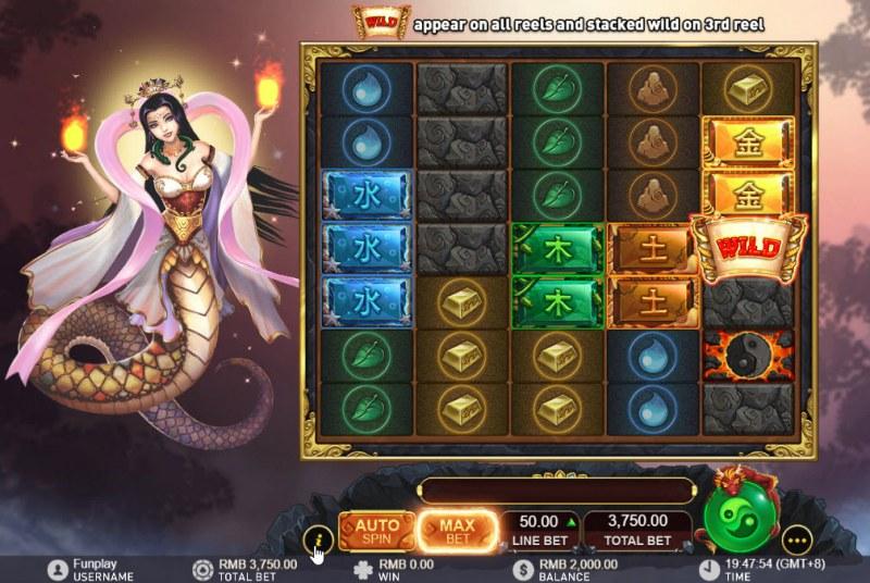 Nuwa and the Five Elements :: Main Game Board