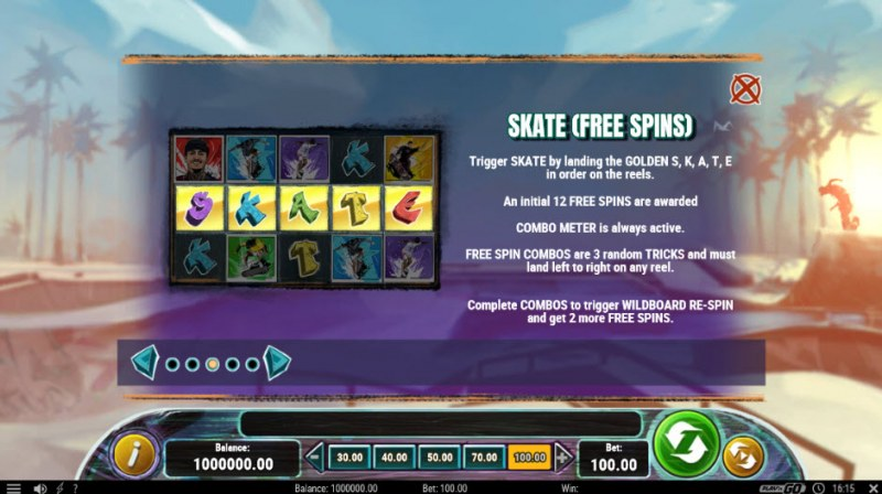 Nyjah Huston Skate for Gold :: Free Spins Rules