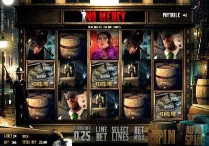 Solara featuring the Video Slots No Mercy with a maximum payout of $35,000