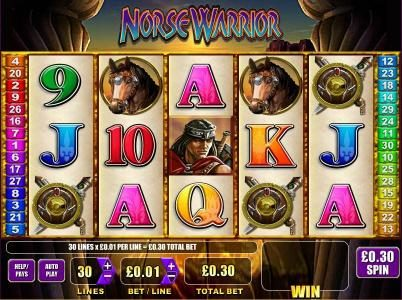Mega Casino featuring the Video Slots Norse Warrior with a maximum payout of $5,000
