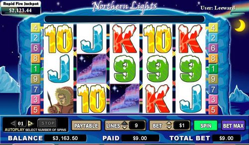 Casiplay featuring the video-Slots Northern Lights with a maximum payout of 6,000x