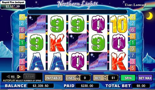 Play slots at Boaboa: Boaboa featuring the video-Slots Northern Lights with a maximum payout of 6,000x