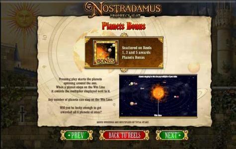 planet bonus feature rules
