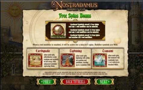 free spins bonus feature rules