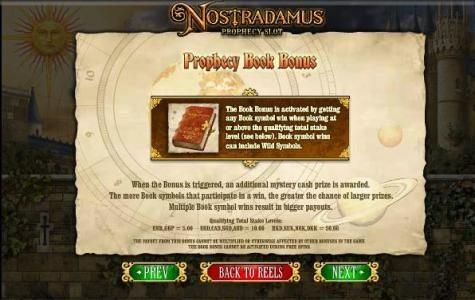prophecy book bonus feature rules