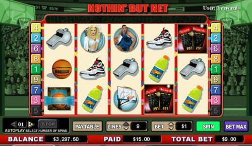 Play slots at Casino Superlines: Casino Superlines featuring the video-Slots Nothin' But Net with a maximum payout of 6,000x