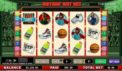 Casiplay featuring the video-Slots Nothin' But Net with a maximum payout of 6,000x