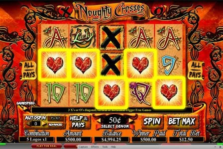Slots Magic featuring the Video Slots Noughty Crosses with a maximum payout of 1,000x
