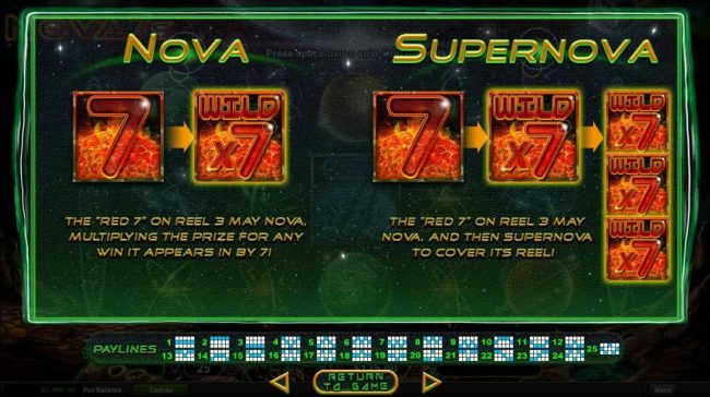 Nove and Supernova Feature Rules