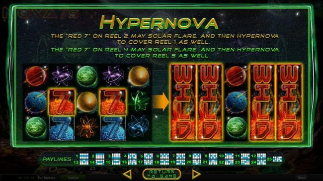 Play slots at Free Spin: Free Spin featuring the Video Slots Nova 7's with a maximum payout of $250,000
