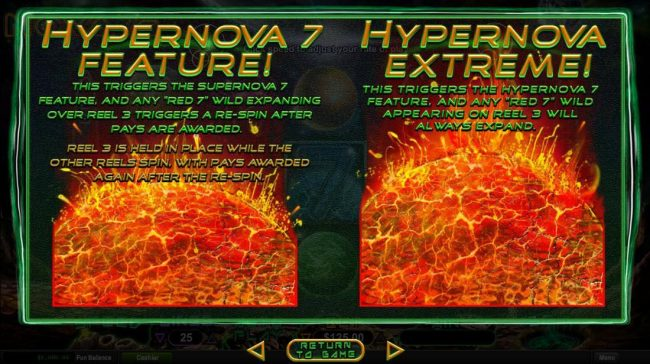 Hypernova 7 and Hypernova Extreme Free Games Rules