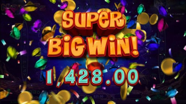 A Super Big Win 1,428.00 awarded.