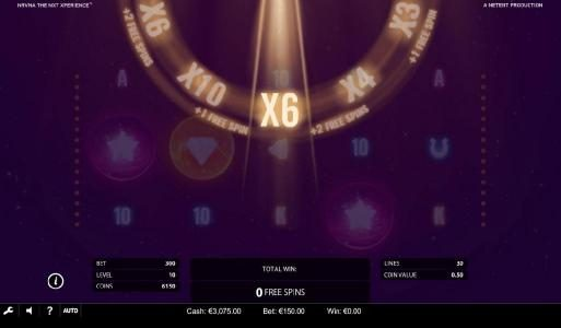 Free Spins featuring the Video Slots NRVNA The NXT Xperience with a maximum payout of $4,830,000