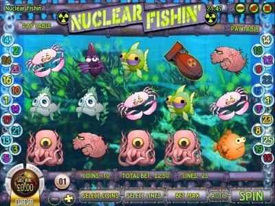 Play slots at Treasure Mile: Treasure Mile featuring the Video Slots Nuclear Fishin' with a maximum payout of $1,875