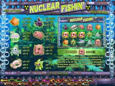 Play slots at Break Away: Break Away featuring the Video Slots Nuclear Fishin' with a maximum payout of $1,875