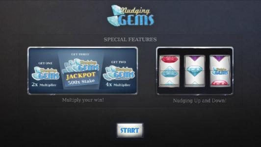 special features - multipliers and nudging up and down
