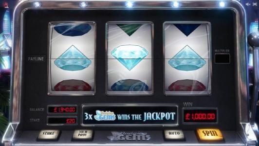 three of a kind triggers a $1000 big win