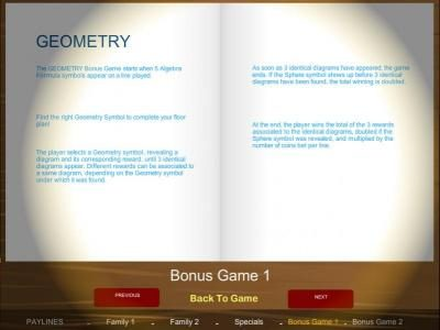 Geometry bonus game rules