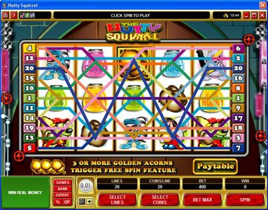 Blackjack Ballroom featuring the Video Slots Nutty Squirrel with a maximum payout of $50,000