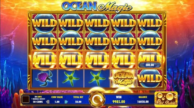 Secret Slots featuring the Video Slots Ocean Magic with a maximum payout of $25,000,000