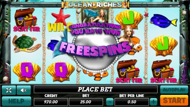Venetian featuring the Video Slots Ocean Riches with a maximum payout of $25,000