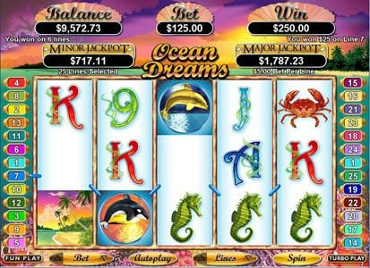 Wild Joker featuring the Video Slots Ocean Dreams with a maximum payout of $250,000