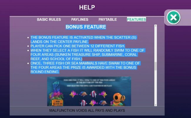 Gossip Slots featuring the Video Slots Ocean Life with a maximum payout of Jackpot