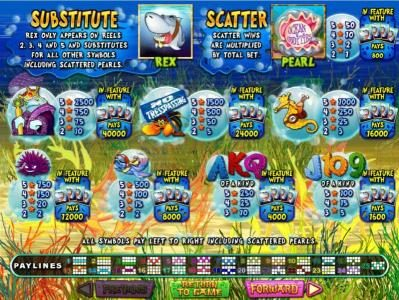 Play slots at Las Vegas USA: Las Vegas USA featuring the Video Slots Ocean Oddities with a maximum payout of $50,000