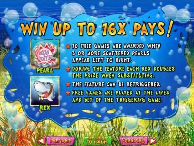 Win up to 16x pays! Free Game rules