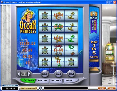 Euro Grand featuring the Video Slots Ocean Princess with a maximum payout of $25,000