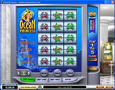 50 Stars featuring the Video Slots Ocean Princess with a maximum payout of $25,000
