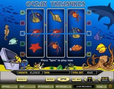 Celtic featuring the Video Slots Ocean Treasures with a maximum payout of $5,000
