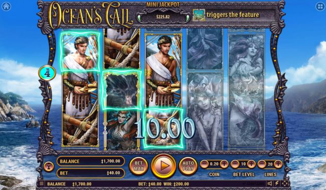 Viggoslots featuring the Video Slots Ocean's Call with a maximum payout of $2,500,000