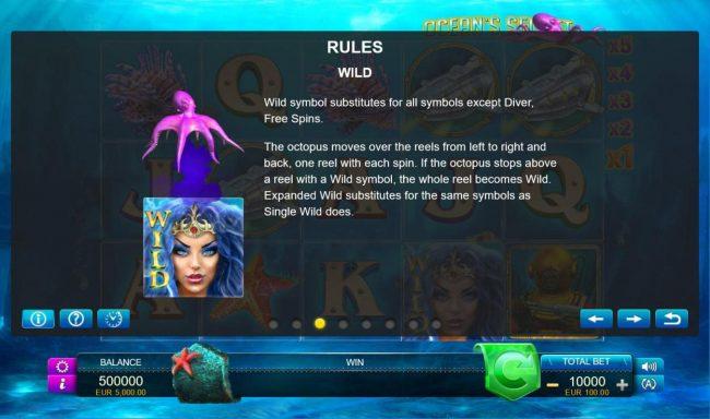 Ocean's Secret :: Wild Symbol Rules