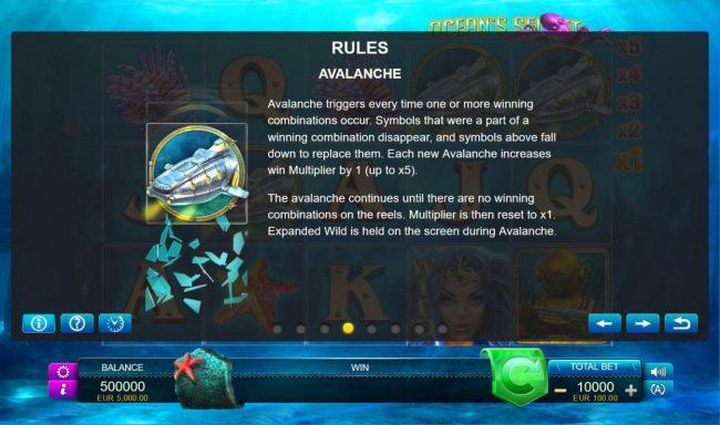 Ocean's Secret :: Avalanche Feature Rules