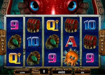 Golden Reef featuring the Video Slots Octopays with a maximum payout of $4,000