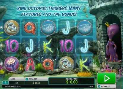 Amsterdam Casino featuring the Video Slots Octopus Kingdom with a maximum payout of $7,500