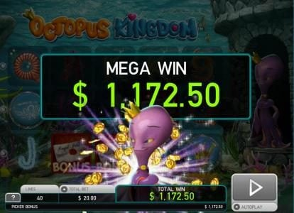 Videoslots featuring the Video Slots Octopus Kingdom with a maximum payout of $7,500