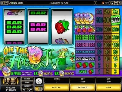 Fika Casino featuring the Video Slots Off the Hook with a maximum payout of $40,000