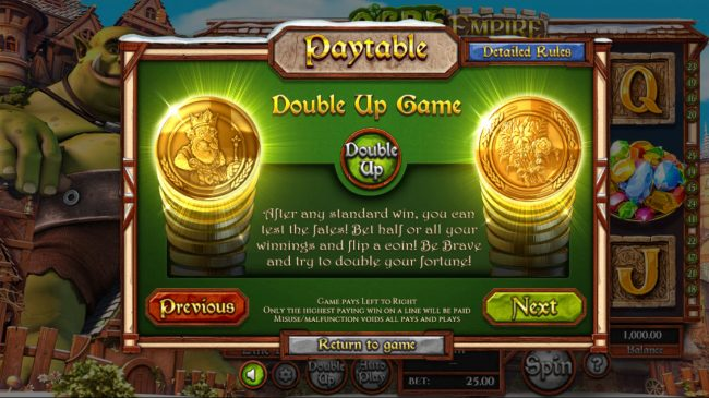 Playamo featuring the Video Slots Ogre Empire with a maximum payout of $25,000