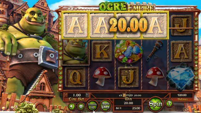 Play slots at Grand Bay: Grand Bay featuring the Video Slots Ogre Empire with a maximum payout of $25,000