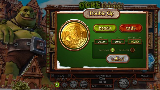 Ogre Empire :: Gamble Feature Game Board