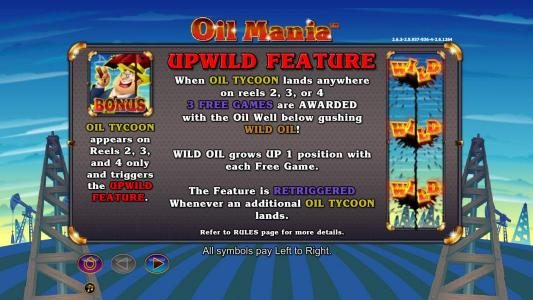Play slots at Fika Casino: Fika Casino featuring the Video Slots Oil Mania with a maximum payout of $5,000