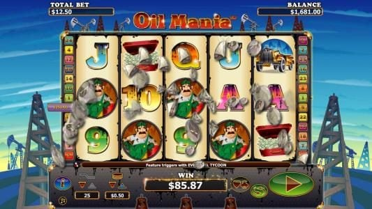 Wintingo featuring the Video Slots Oil Mania with a maximum payout of $5,000