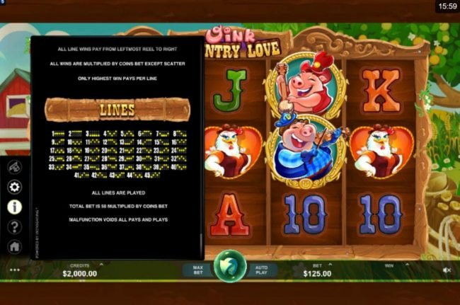 Play slots at Argo: Argo featuring the Video Slots Oink Country Love with a maximum payout of $12,500