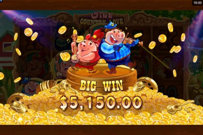 CasinoUK featuring the Video Slots Oink Country Love with a maximum payout of $12,500
