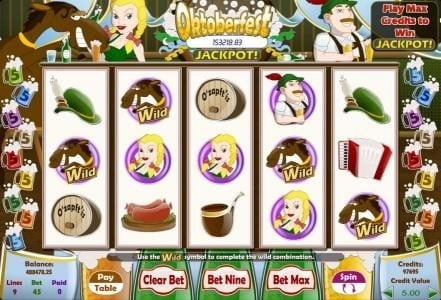 Play slots at Company: Company featuring the Video Slots Oktoberfest with a maximum payout of $125,000