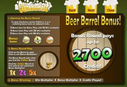 My Bet featuring the Video Slots Oktoberfest with a maximum payout of $125,000