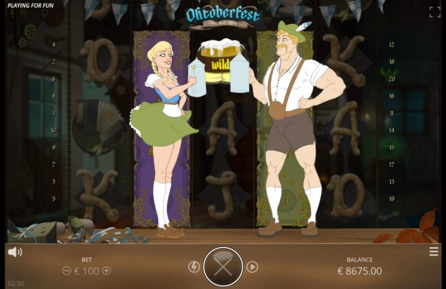 Oktoberfest :: Stacked wild symbol triggers the respin feature